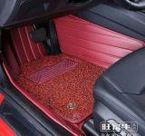 Esteira 3D do carro com Leatherette 5-Layer no bordado das tiras com a almofada da bobina do PVC