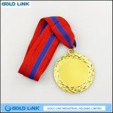 Métier d'or de récompense de sports de pièce de monnaie de médailles en métal de blanc fait sur commande de médaille
