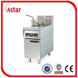 Stile diritto libero della friggitrice profonda dell'acciaio inossidabile, friggitrice commerciale della patata dei pesci del pollo di approvvigionamento fatta in Cina