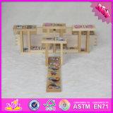 Insieme di legno di domino del bambino dei 2017 commerci all'ingrosso mini, insieme di legno di domino dei capretti divertenti mini, migliore mini domino di legno W15A073 stabilito