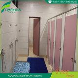 Panneau de partition de toilette phénolique rose pour la porte de compartiment / partition HPL