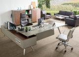 新しい木の革PVC現代事務机(V9A)