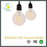 G30/G95柔らかいフィラメントLEDの球根ULのリストされた穂軸の電球