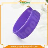 Wristband personalizado do silicone da forma com logotipo