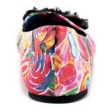 Multi-Цветы типа способа напечатали плоские ботинки платья женщин (YF-26)