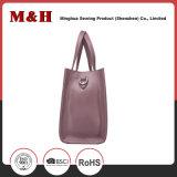 Echtes Leder-beweglicher rosafarbener Frauen-Handbeutel