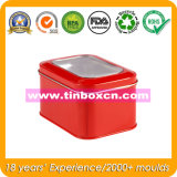 Caixa de lata para janela de PVC, caixa de lata quadrada, embalagem de estanho