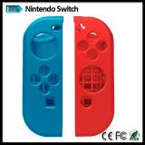 Piel del caso de la cubierta del silicio del Alegría-Regulador de la Alegría-Estafa para el regulador del juego del interruptor de Nintendo