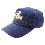 Gorra de béisbol lavada algodón del casquillo de los paneles del azul 6