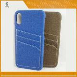 Оптовый телефон кредитной карточки покрывает кожаный iPhone 8 аргументы за, заднее iPhone 8 аргументы за