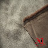 Полиэфир 100% одна бортовая ткань замши для одежды/куртки/мешка