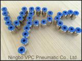 Encaixe pneumático plástico do conetor pneumático rápido; Empurrar os encaixes; Encaixes de um toque; Conetor da câmara de ar