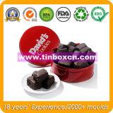 Runde Zinn-Schokolade kann für das Verpacken der Lebensmittel, Schokoladen-Zinn-Kasten