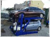 2 doppi elevatori astuti idraulici di parcheggio dell'automobile dell'alberino che inclinano l'impilatore dell'automobile