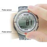 Reloj sin hilos del monitor del ritmo cardíaco del podómetro del contador del pulso del reloj de los deportes