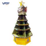 Carrinho de indicador da árvore do Xmas do cartão ondulado da promoção do supermercado