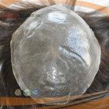 Da pele fina super reta revestida cheia das mulheres do laço do cabelo humano parte poli macia do cabelo
