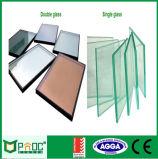 Inclinación de aluminio y vuelta a la ventana con el certificado del CE