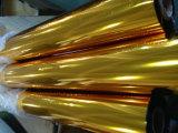 Lámina para gofrar caliente del traspaso térmico del oro para la tela y la talla modificada para requisitos particulares ropa