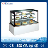 Indicador luxuoso do bolo de Dukers, Showcase da padaria, refrigerador do Showcase com base de mármore
