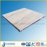 comitato di alluminio del favo della pietra del marmo di bianco di 20mm