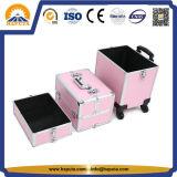 까만 분홍색 다층 알루미늄 트롤리 상자 (HB-6334)