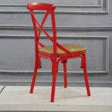 鉄材料が付いている卸し売り現代結婚式Xの背部椅子