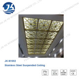 Stainless Stahllaser-Ausschnitt-Gold Mirror Knall-materielle dekorative Decke