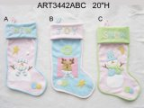1r 2asst de la media de la Navidad de los bebés, rosado y azul, - media de la Navidad