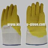 Сверхмощная перчатка работы Джерси покрынная Linerlatex