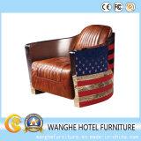 Lazer de couro moderno do projeto da bandeira nacional que janta a cadeira