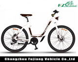 с велосипедом женщины e алюминиевого сплава 6061