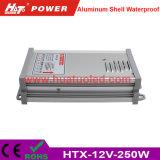 alimentazione elettrica Rainproof delle coperture di alluminio costanti LED di tensione 12V-250W