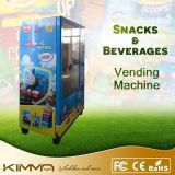 De koude Blikken en Automaat van de Popcorn Met de Acceptor van het Muntstuk