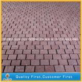 Natürlicher preiswerter roter Granit-Mosaik-Straßenbetoniermaschine-Stein für Garten und Park
