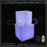 Silla del asiento de la iluminación LED Muebles Cubo con el cambio de color