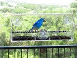 Grande alimentatore dell'uccello della finestra con il cassetto dell'acqua di indennità