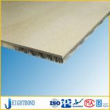Painel de alumínio de Homeycomb do mármore da pedra da cor de Brown para materiais de construção