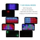 Altoparlante stereo senza fili portatile ad alta fedeltà degli altoparlanti di Bluetooth con 7 LED