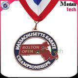 Medalla de encargo redonda del balompié de África de la plata suave del esmalte del precio bajo de la muestra libre