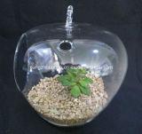 Florero de cristal colgante transparente de la decoración de la Navidad