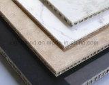 o painel de alumínio de mármore do favo de mel de 10mm com pedra aplainou para o escritório