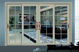 Puerta deslizante de aluminio del vidrio Tempered del doble del diseño del tubo principal