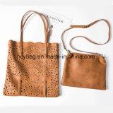Sacchetto di cuoio stabilito 2017 della signora mano del sacchetto della cavità di modo delle borse della spalla del progettista Hcy-2222