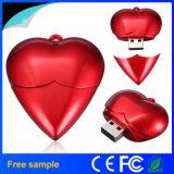 대중적인 사랑 심혼 모양 플라스틱 USB 섬광 드라이브