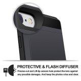 Caja de la carpeta ranura de la tarjeta de crédito Secreto TPU de parachoques para el iPhone-6-Plus