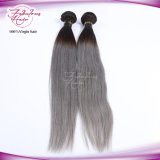 New Fashion Color 1b Grey Brazilian Straight Ombre Hair Extension