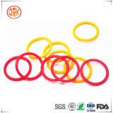 Guarnizioni di gomma e giunti circolari gialli del silicone delle guarnizioni