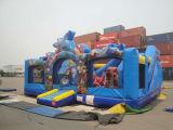 Campo de jogos de escalada mínimo do curso de obstáculo dos miúdos infláveis para a venda