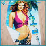 Essuie-main 100% de plage sexy d'impression réactive de velours de coton de vente en gros